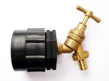 "IBC Adapter (HD) to Brass Garden Tap withse 1/2"" (13mm) Hose Tail."